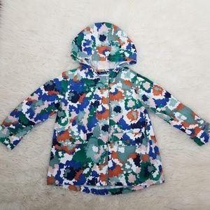 Gymboree Camouflage Hoodie Jacket Coat Sz XS 4 Mul